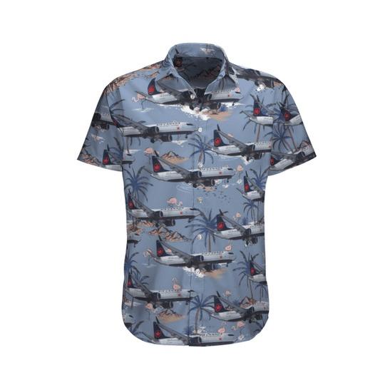 Air canada boeing 737 8 max hawaiian shirt 1