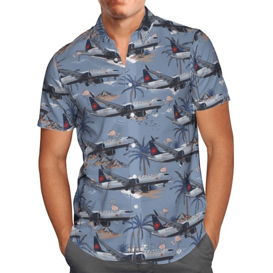 Air canada boeing 737 8 max hawaiian shirt 2