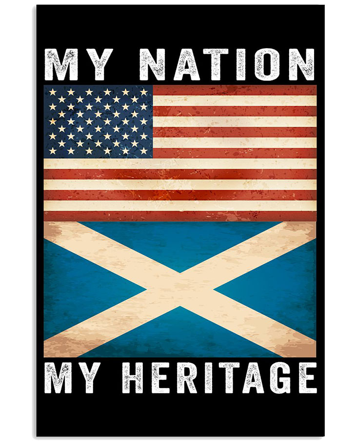 American FLAG My Nation My Heritage Poster