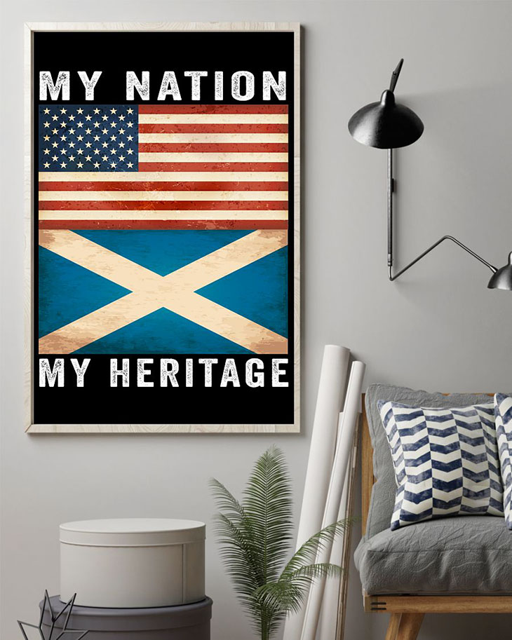 American FLAG My Nation My Heritage Poster1