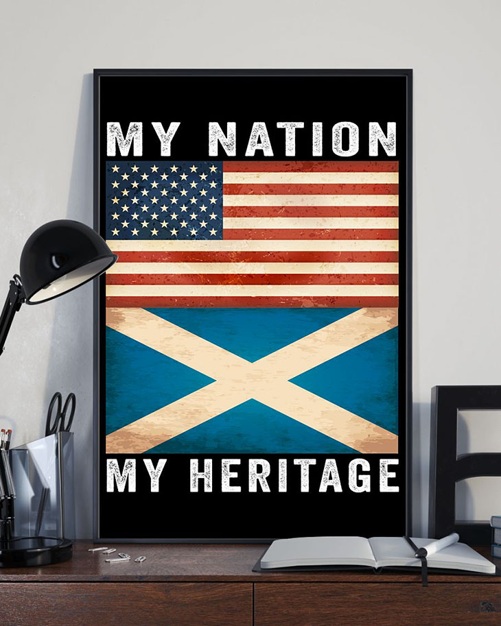 American FLAG My Nation My Heritage Poster2