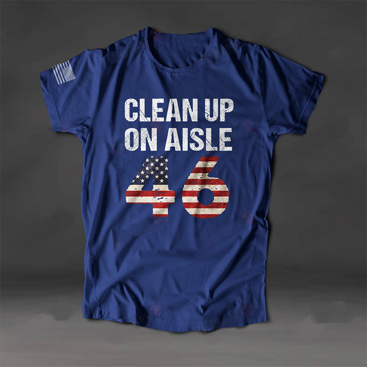 American Flag Clean Up On Aisle 46 3D Tshirt3