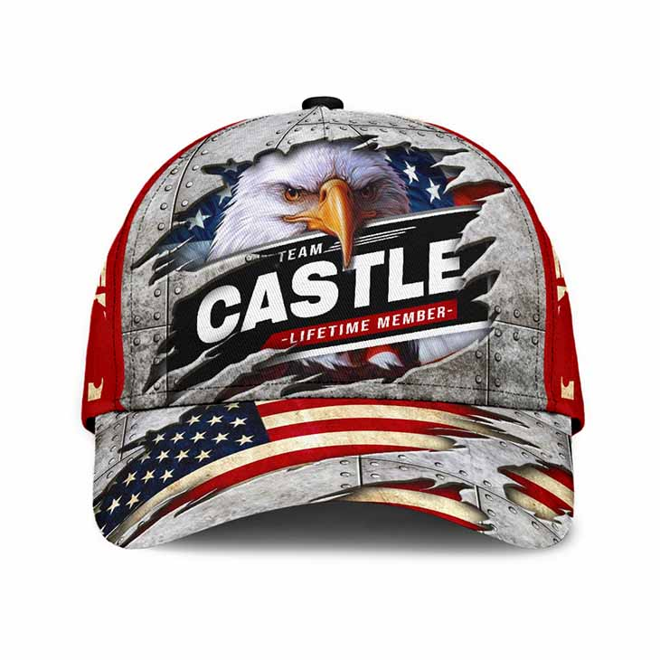 American Flag Eagle Never Underestimate The Power Of A Castle Cap Hat