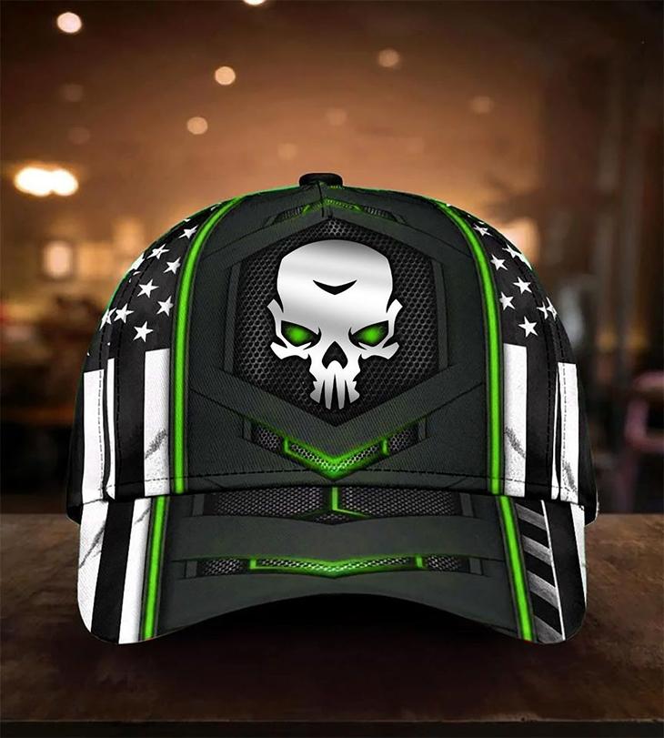 American Flag Horror Skull Cap1