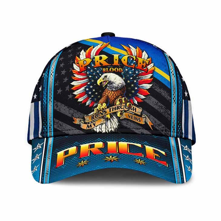 Eagle Price Blood Runs Through My Veins Price Cap Hat