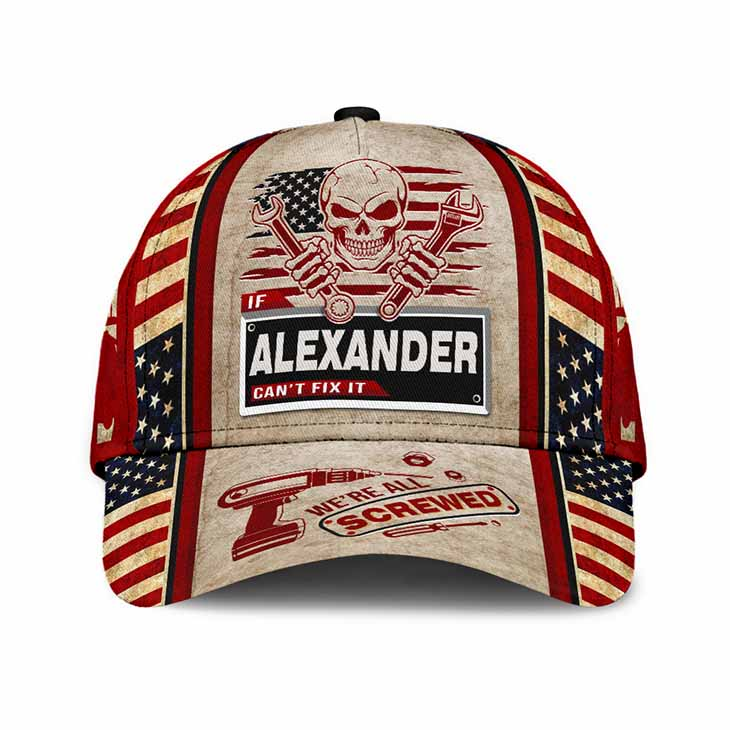 Skull If Alexander Cant Fix It Were All Screwed Cap Hat