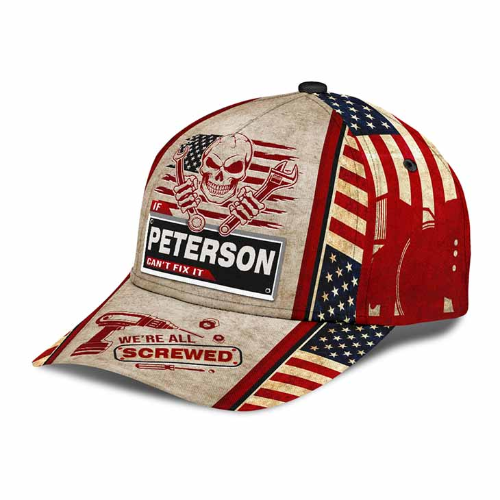 Skull If Peterson Cant Fix It Were All Screwed Cap Hat