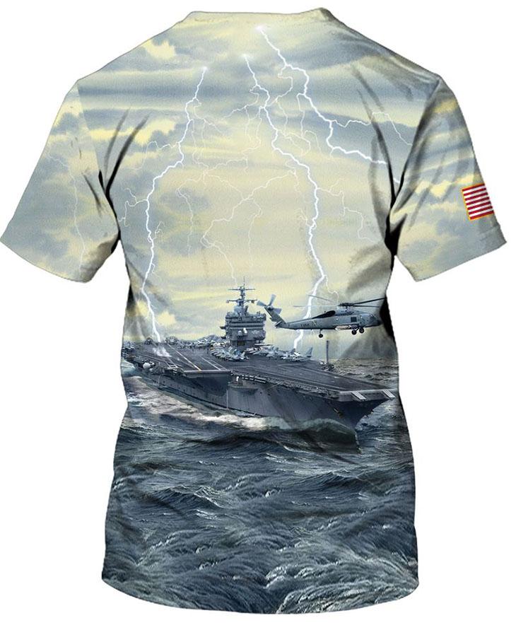 American Flag U S Navy Veteran 3D HoodieShirt3