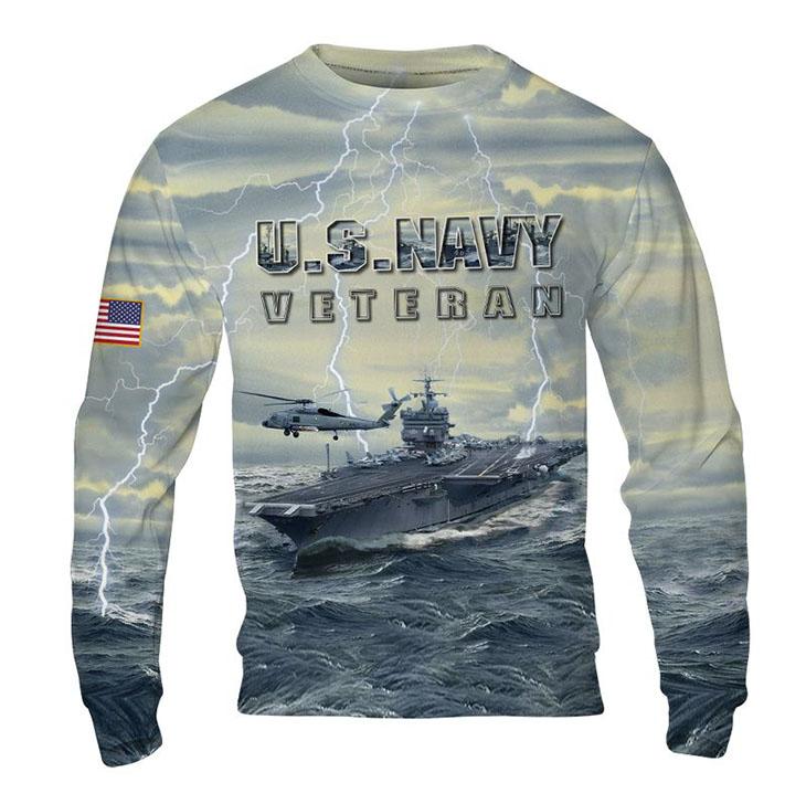 American Flag U S Navy Veteran 3D HoodieShirt4