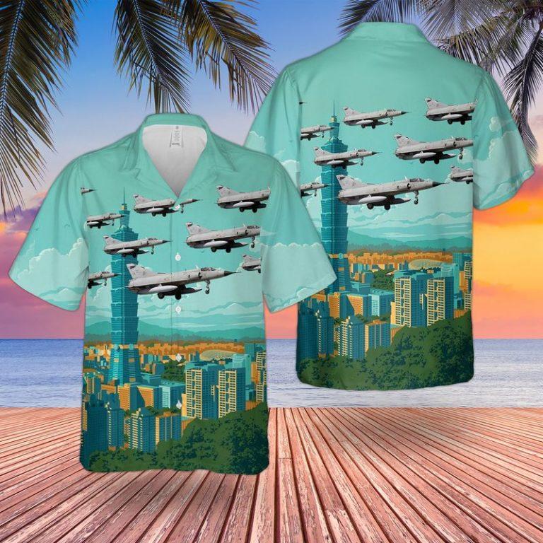 Argentine Air Force Mirage IIIEA Hawaiian Shirt short 1
