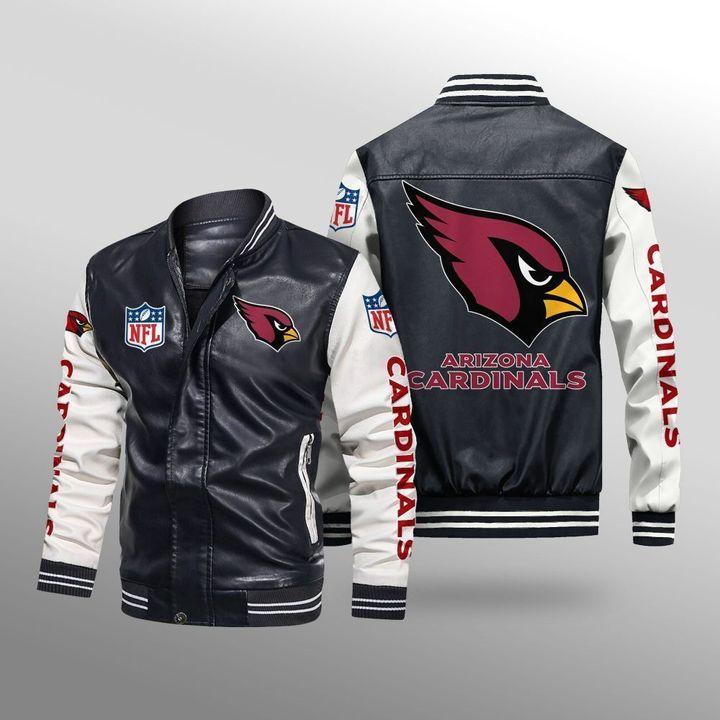 Arizona Cardinals Leather Bomber Jacket 1