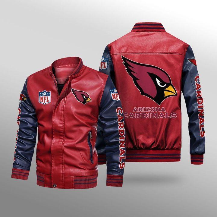 Arizona Cardinals Leather Bomber Jacket 2