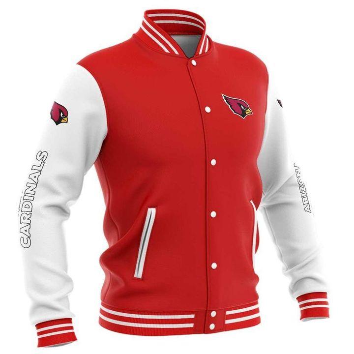 Arizona cardinals baseball button jacket 6