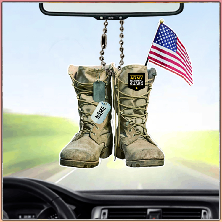 Army National Guard Military Boots Personalized Car Ornament2