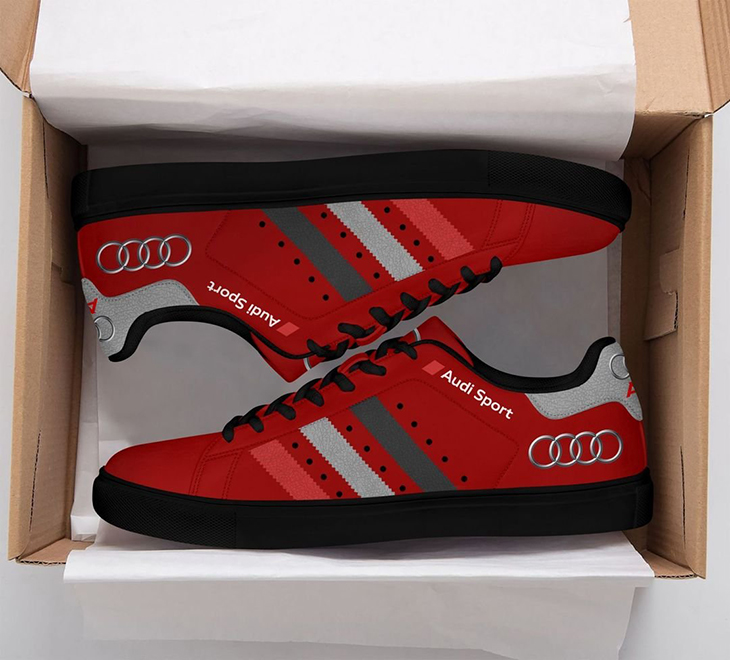 Audi Red stan smith shoes