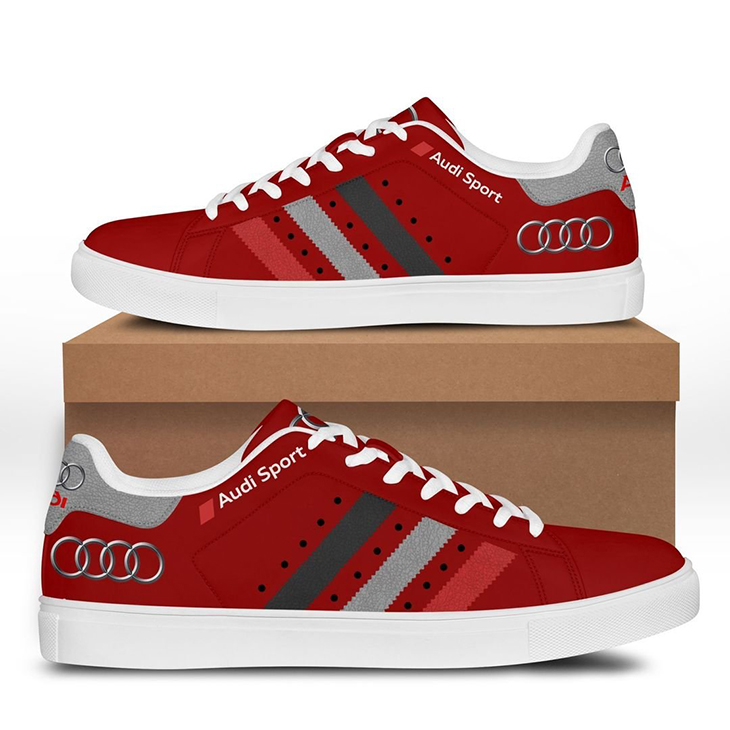 Audi Red stan smith shoes3