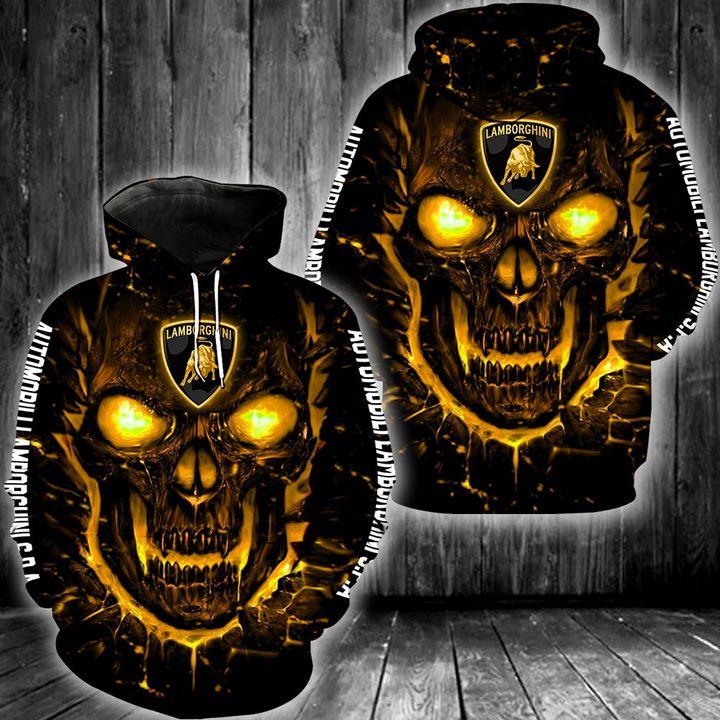 Automobili lamborghini skull 3d all over print hoodie 1