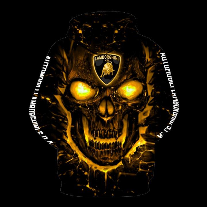 Automobili lamborghini skull 3d all over print hoodie 3