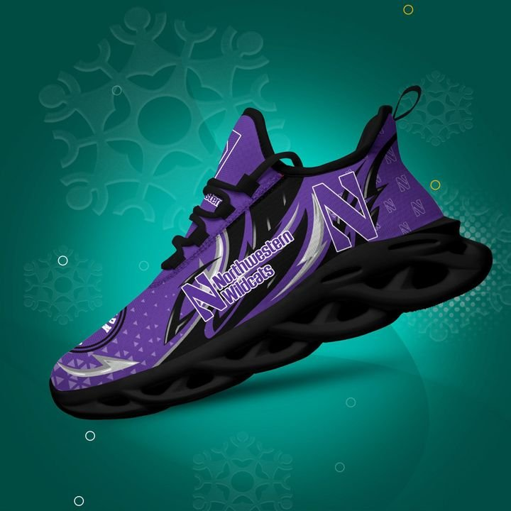 Northwestern Wildcats clunky Max Soul High Top Shoes 4