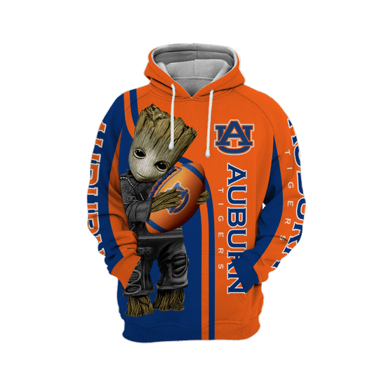 Baby Groot Auburn tigers 3d all over print hoodie1