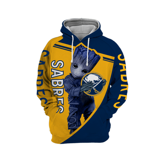Baby Groot Buffalo sabres 3d all over print hoodie1