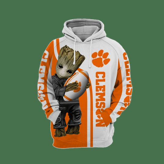 Baby Groot Clemson tigers 3d all over print hoodie1