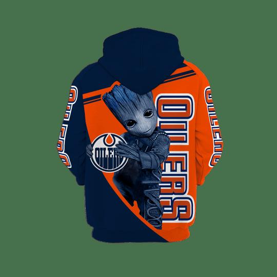 Baby Groot Edmonton oilers 3d all over print hoodie1