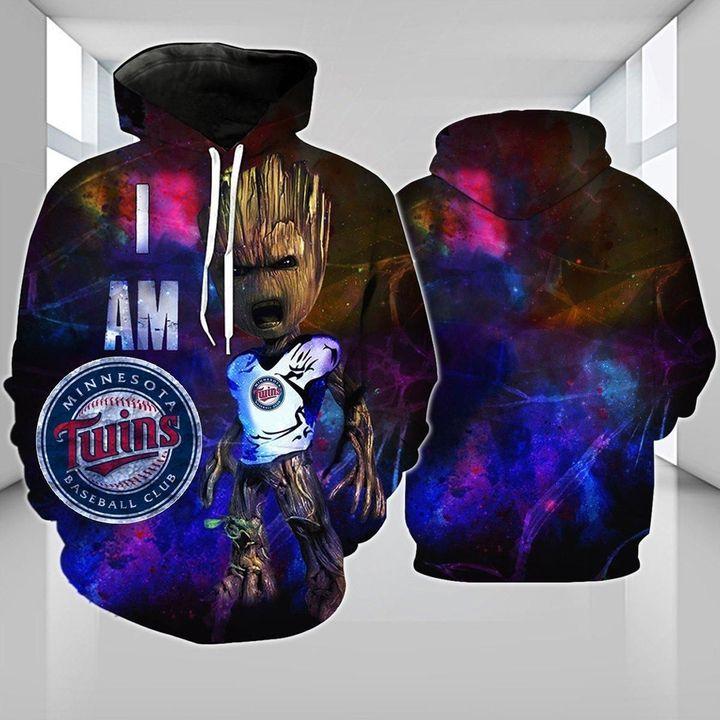 Baby Groot Minnesota twins 3d hoodie 1