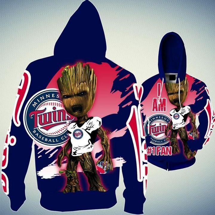 Baby Groot Minnesota twins hoodie 1