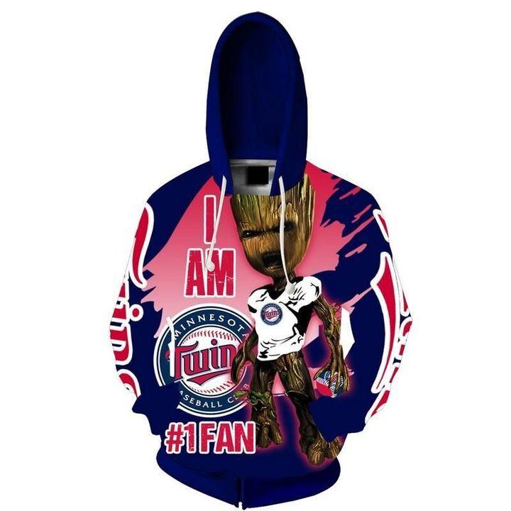 Baby Groot Minnesota twins hoodie 2