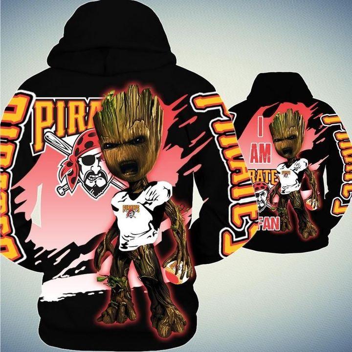 Baby Groot Pittsburgh pirates hoodie 2