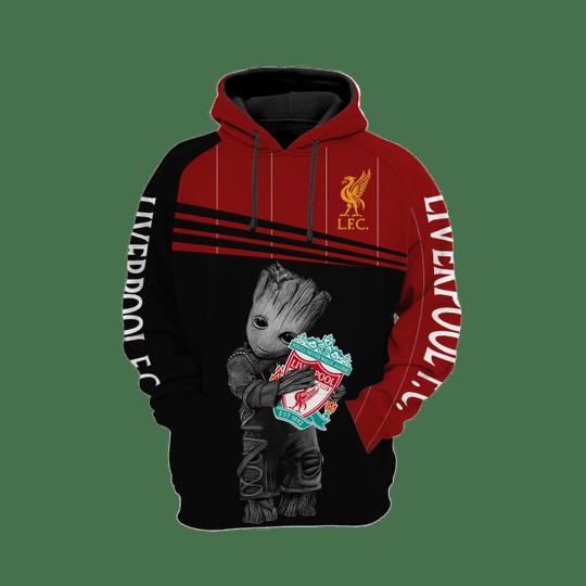 Baby Groot liverpool 3d all over print hoodie1