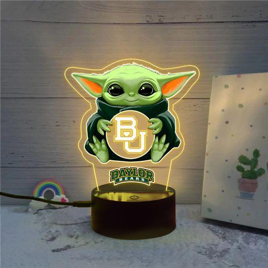 Baby Yoda Baylor Bears NCAA Led lamp