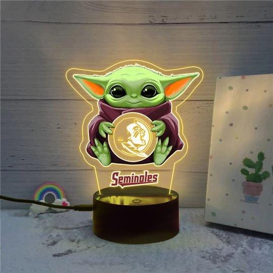 Baby Yoda Florida State Seminoles NCAA Led lamp