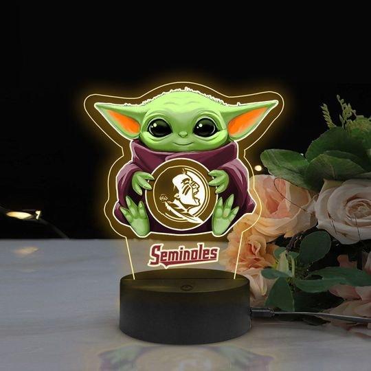 Baby Yoda Florida State Seminoles NCAA Led lamp1