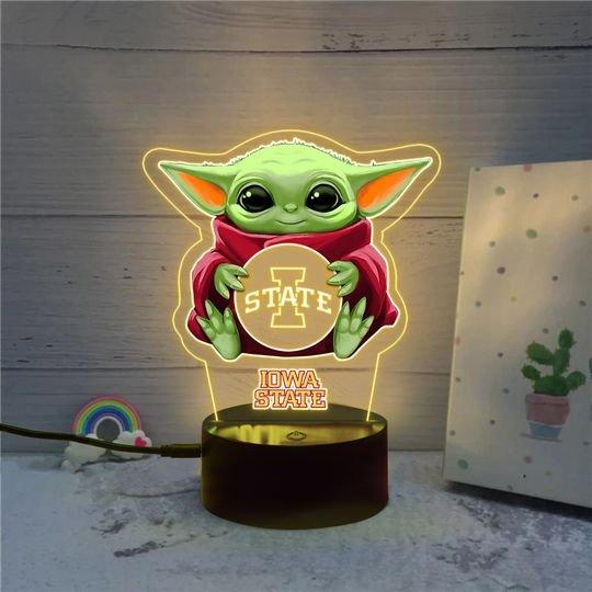 Baby Yoda Iowa State Cyclones led lamp2