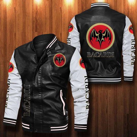 Bacardi Leather Bomber Jacket
