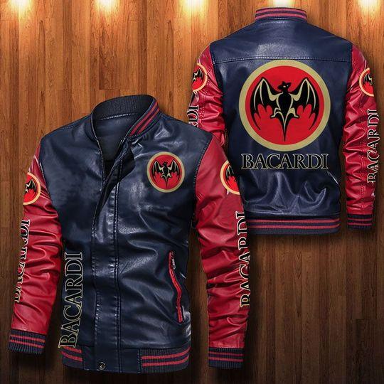 Bacardi Leather Bomber Jacket1