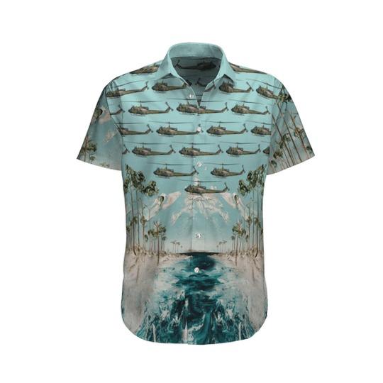 Bell uh 1d iroquois german army hawaiian shirt 1