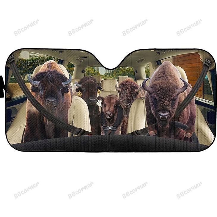 Bison Family Car Sunshade1