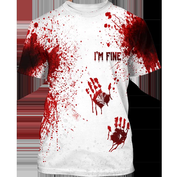 Blood Halloween Im Fine 3D Hoodie Shirt
