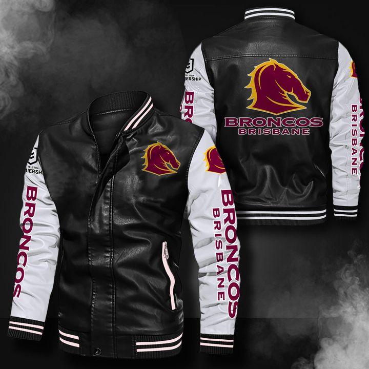 Brisbane Broncos Leather Bomber Jacket 1