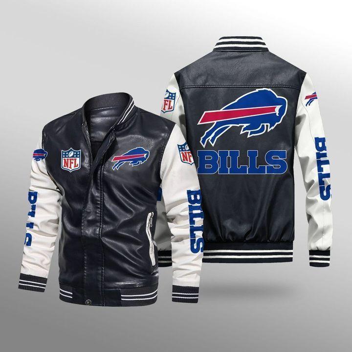 Buffalo Bills Leather Bomber Jacket 1