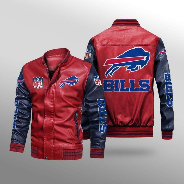 Buffalo Bills Leather Bomber Jacket 2