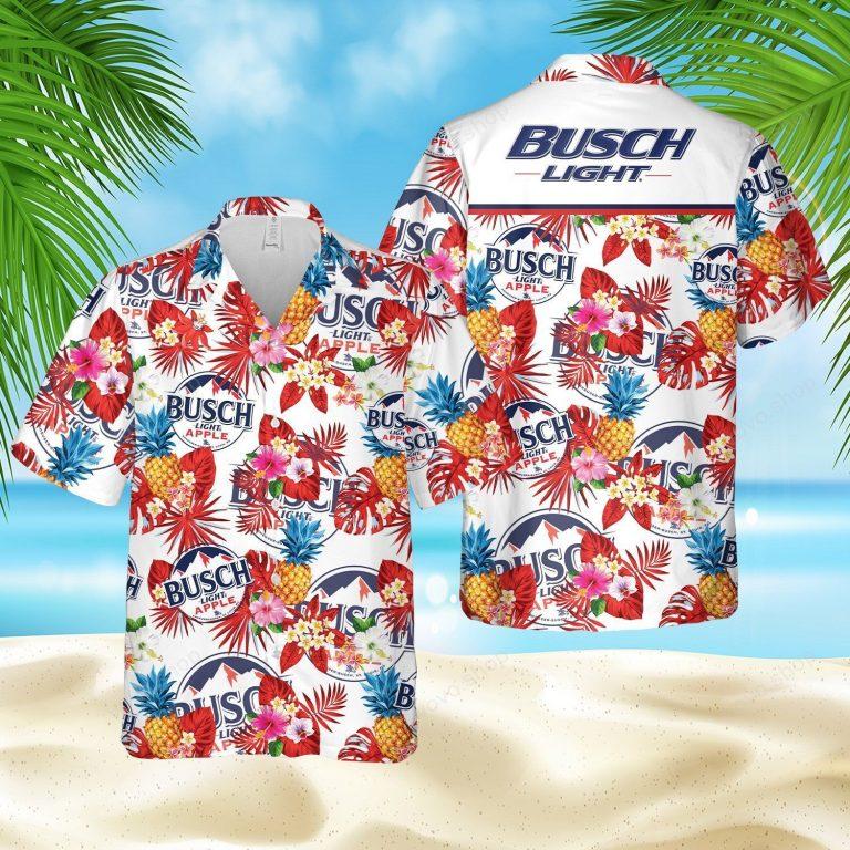 Busch Light Apple pineapple Hawaiian shirt short 1