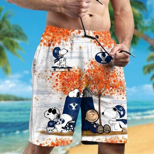 Byu cougars Snoopy autumn hawaiian shirtshort2