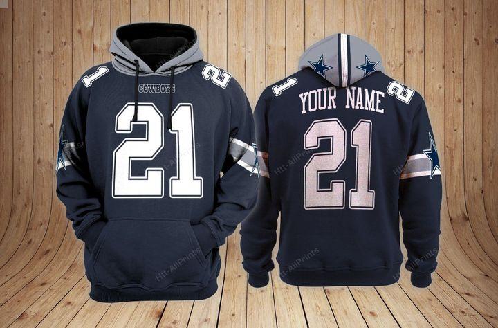 Dallas cowboys custom name 3d hoodie