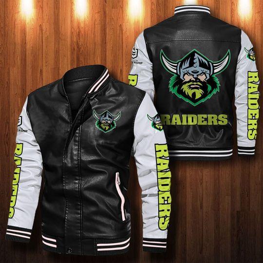 Canberra Raiders Leather Bomber Jacket