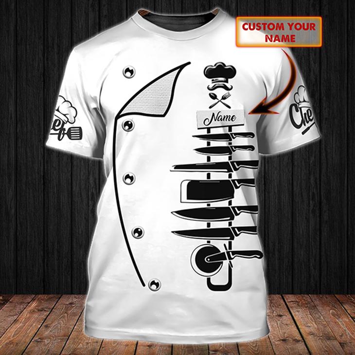 Chef Custom Personalized Name 3D Tshirt3