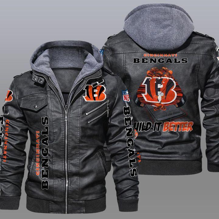 Cincinnati Bengals Wild It Better Leather Jacket